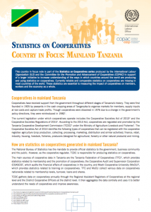 Tanzania Coop Stats Note