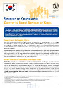 Republic of Korea Country in Focus on Coop Stats